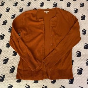 Merona Burnt Orange Long Sleeve Cardigan